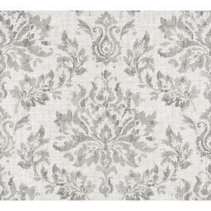 VALENCE DAMASK Platinum Fabricut Fabric