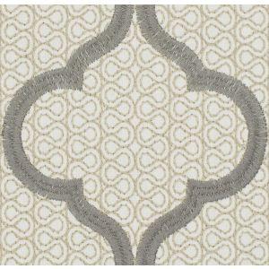 MAGNETIC OGEE Dove Fabricut Fabric