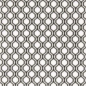 50078W KEYS GEO Onyx 01 Fabricut Wallpaper
