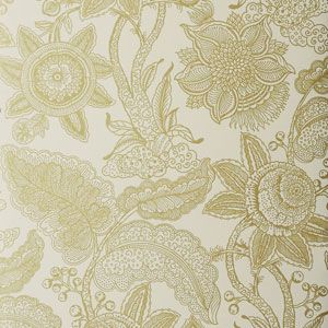 50204W REINA Gold 01 Fabricut Wallpaper