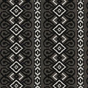 GIBRALTAR STRIPE Black White Fabricut Fabric