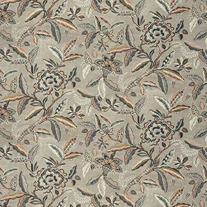 BEAMAN FLORAL Coral Stone Fabricut Fabric