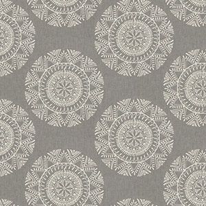 MONOMER MEDALLION Pewter Fabricut Fabric