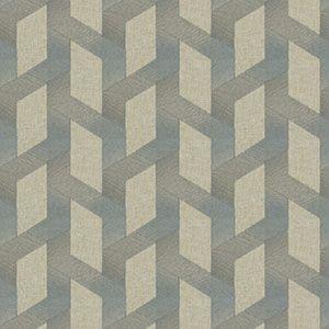 BRAYTON FRET Blue Smoke Fabricut Fabric