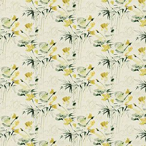 9467101 FLORAL POND Golden Fabricut Fabric