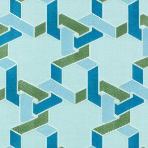 15649-601 DILEMMA Aqua Green Duralee Fabric