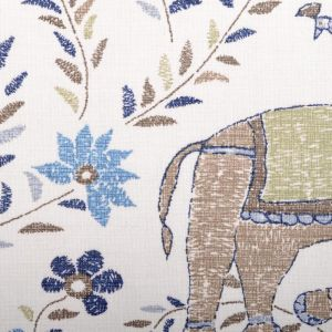 21035-108 MAHOUT Blue Brown Duralee Fabric