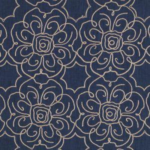 32395-193 TABRIZ Indigo Duralee Fabric