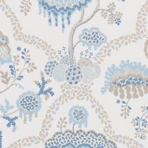 DE42662-50 LISBOA Natural Blue Duralee Fabric