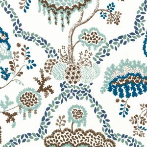 DE42662-72 LISBOA Blue Green Duralee Fabric