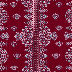 DE42671-203 ALFAMA Poppy Red Duralee Fabric