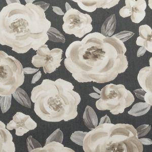 F0590-1 ELODIE Charcoal Clarke & Clarke Fabric