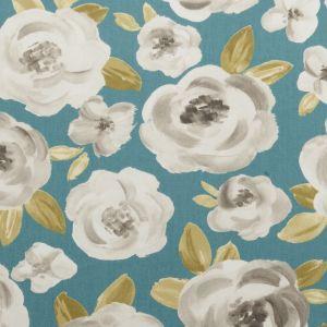 F0590-5 ELODIE Teal Clarke & Clarke Fabric