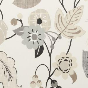 F0591-2 FOLIA Charcoal Clarke & Clarke Fabric