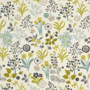 F0991-1 FRIDA Chartreuse Clarke & Clarke Fabric