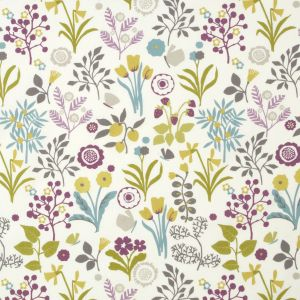 F0991-2 FRIDA Heather Olive Clarke & Clarke Fabric