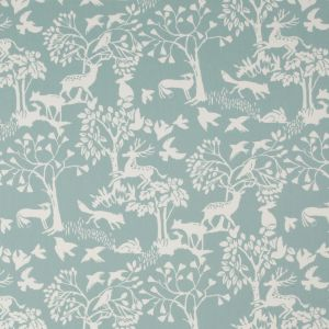 F0993-4 TRAD Ice Blue Clarke & Clarke Fabric