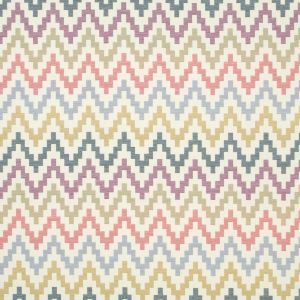 F0996-3 KLAUDIA Indigo Cranberry Clarke & Clarke Fabric