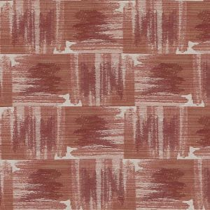 HU15851-31 IKAT PLAID Coral Highland Court Fabric