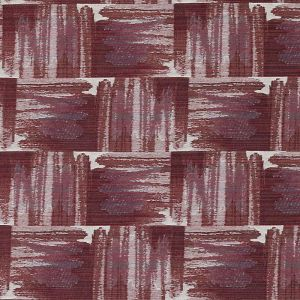 HU15851-559 IKAT PLAID Pomegranate Highland Court Fabric