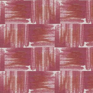 HU15851-573 IKAT PLAID Watermelon Highland Court Fabric