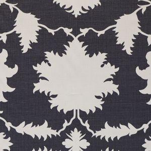175035 GARDEN OF PERSIA Charcoal Schumacher Fabric