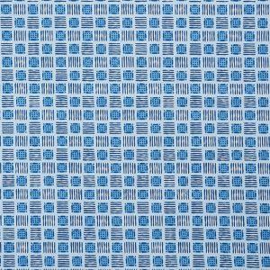177863 MOTTLEY GRID Cottage Blue Schumacher Fabric