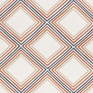 178272 SQUARE DANCE Brown Schumacher Fabric