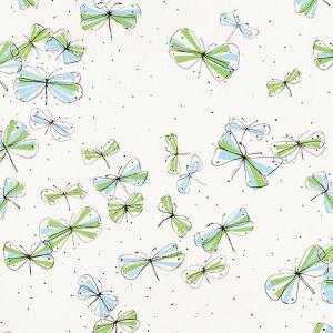 178280 MONARCH'S MARCH Sky Leaf Schumacher Fabric