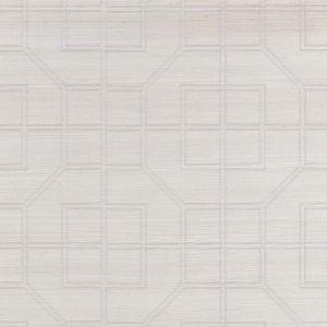 5003555 LINYI EMBROIDERED FRET NATURAL SHIMMER Schumacher Wallpaper
