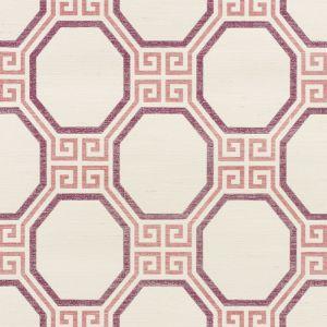 5008935 OCTAVIA SISAL CINNABAR Schumacher Wallpaper