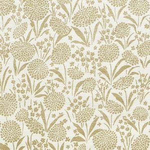 5009782 CHRYSANTHEMUM SISAL GOLD Schumacher Wallpaper