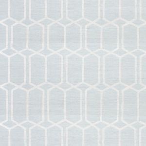 5010100 MODERN TRELLIS SISAL SKY Schumacher Wallpaper