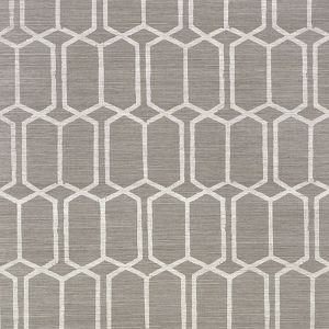 5010101 MODERN TRELLIS SISAL CHARCOAL Schumacher Wallpaper