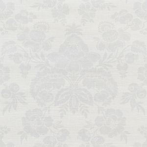 5010120 SIMONE GRASSCLOTH SILVER Schumacher Wallpaper