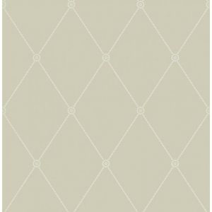 100/13065-CS LARGE GEORGIAN ROPE TRELLIS Olive Cole & Son Wallpaper