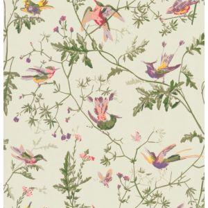 100/14070-CS HUMMINGBIRDS Green Multi-Colour Cole & Son Wallpaper