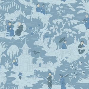 100/8038-CS CHINESE TOILE Blue Cole & Son Wallpaper