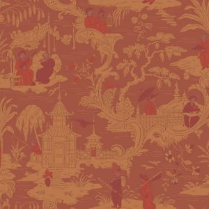 100/8041-CS CHINESE TOILE Red Cole & Son Wallpaper