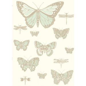 103/15065-CS BUTTERFLIES & DRAGONFLIES Duck Egg Ivory Cole & Son Wallpaper