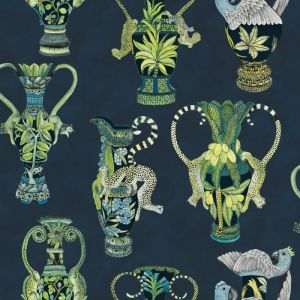 109/12058-CS KHULU VASES Midnight Cole & Son Wallpaper