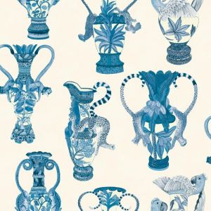 109/12059-CS KHULU VASES Blue White Cole & Son Wallpaper