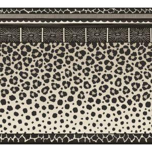 109/13061-CS ZULU BORDER Black White Cole & Son Wallpaper
