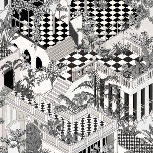 112/6024-CS MIAMI Black White Cole & Son Wallpaper