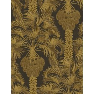 113/1001-CS HOLLYWOOD PALM Charcoal Gold Cole & Son Wallpaper