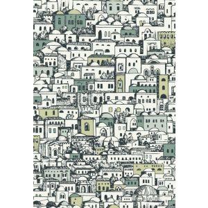 114/7013-CS MEDITERRANEA White Metallic Cole & Son Wallpaper