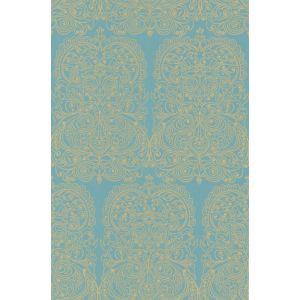 69/2107-CS ALPANA Gold Aqua Cole & Son Wallpaper