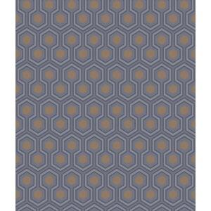 95/3015-CS HICKS HEXAGON Dk Gry Bronz Cole & Son Wallpaper