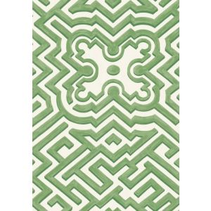 98/14059-CS PALACE MAZE Green Ivory Cole & Son Wallpaper