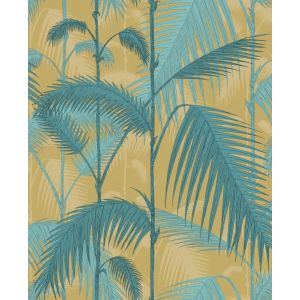 F111/2003-CS PALM JUNGLE Ochre Petrol Cole & Son Fabric